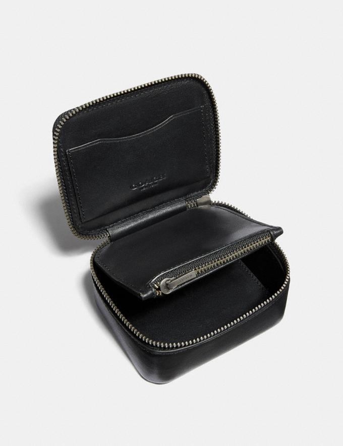Coach Small Travel Case Black New Men's New Arrivals Alternate View 1