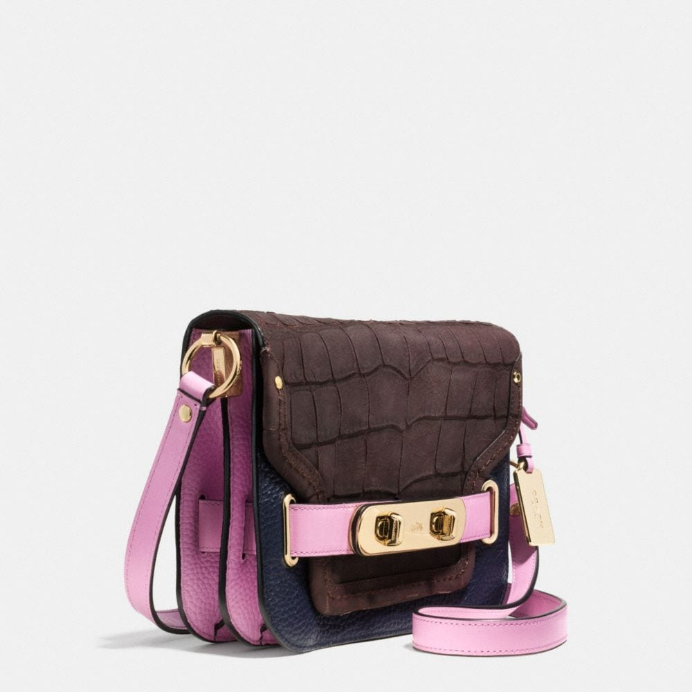 Coach Swagger Small Shoulder Bag in Colorblock Mixed Materials - Alternate View A2