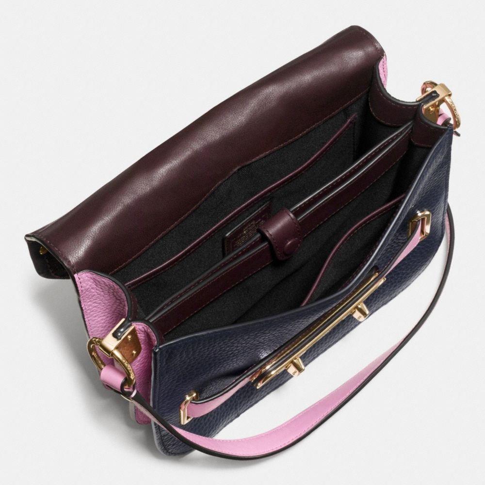 Coach Swagger Small Shoulder Bag in Colorblock Mixed Materials - Alternate View A3