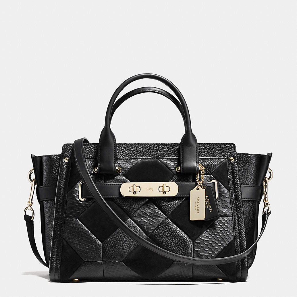 Everyone needs a good black bag and the patchwork design offers the bag  some stylish texture. I love it. f30377a3a46e2
