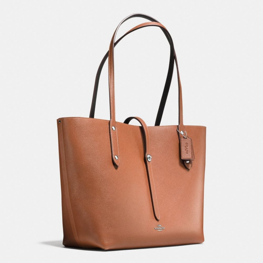 Market Tote in Refined Pebble Leather - Alternate View A2