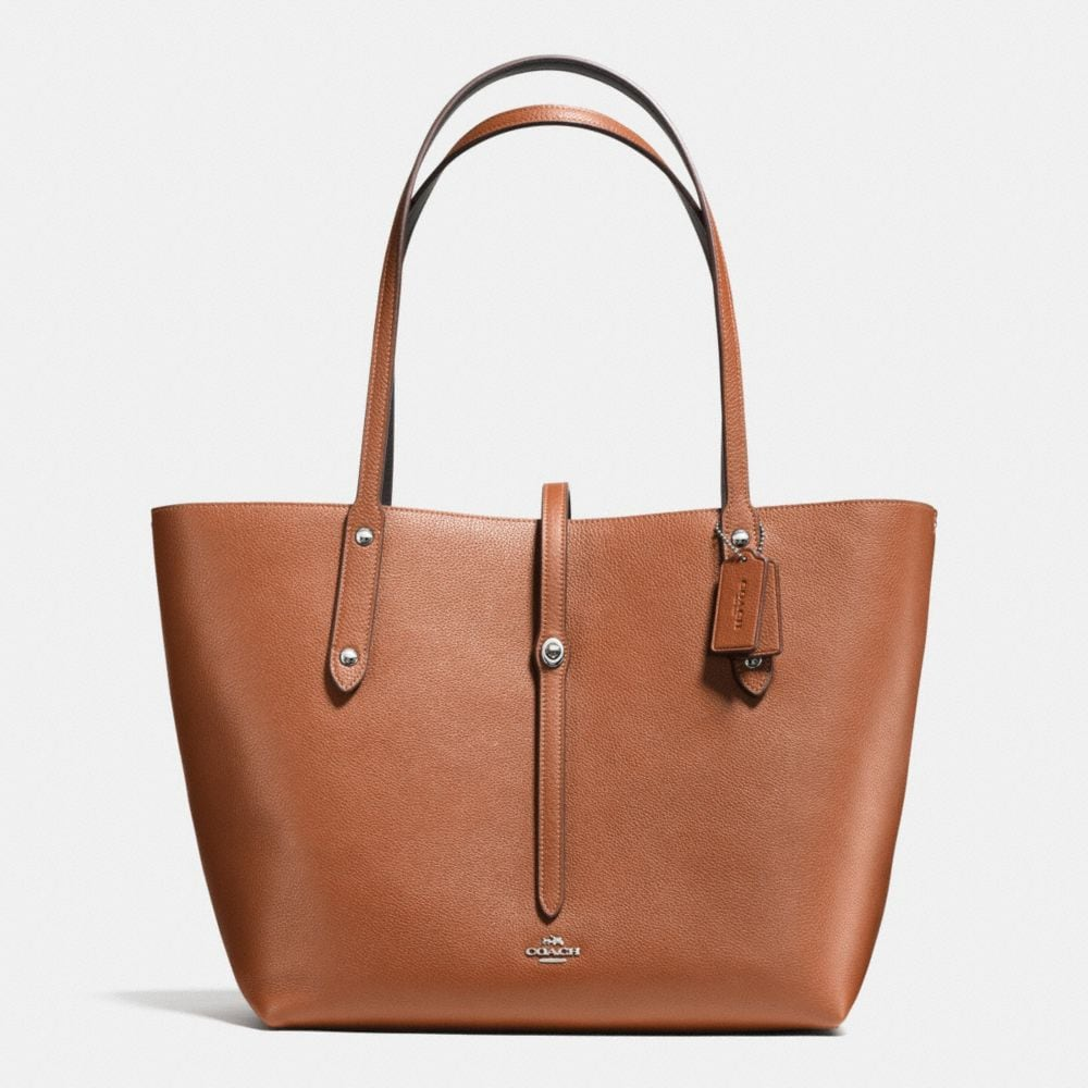 MARKET TOTE IN REFINED PEBBLE LEATHER