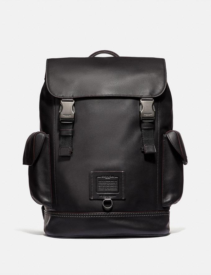Coach Rivington Backpack Black/Black Copper Finish Men Bags Backpacks