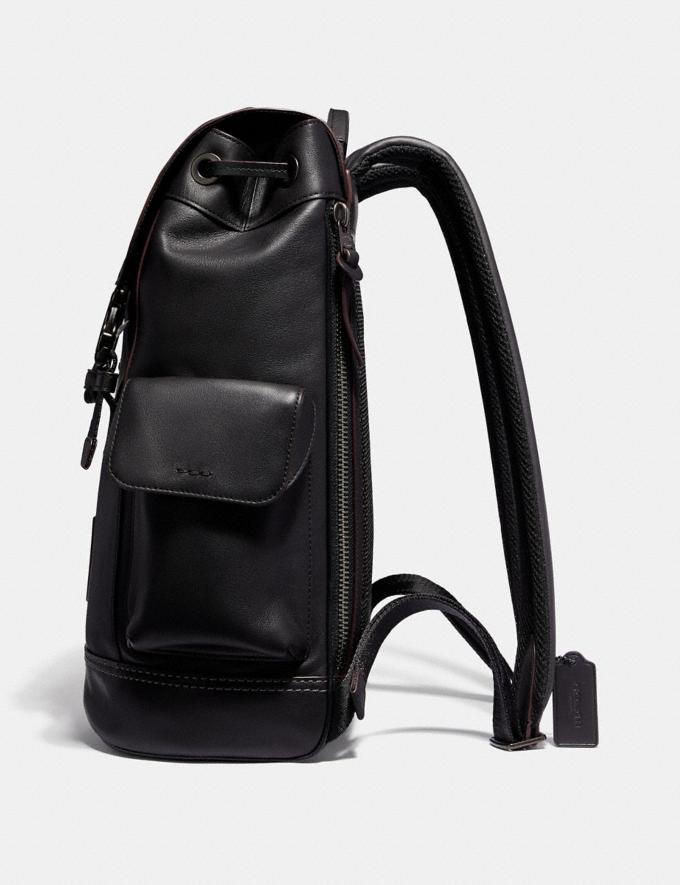 Coach Rivington Backpack Black/Black Copper Finish New Men's New Arrivals Bags Alternate View 1