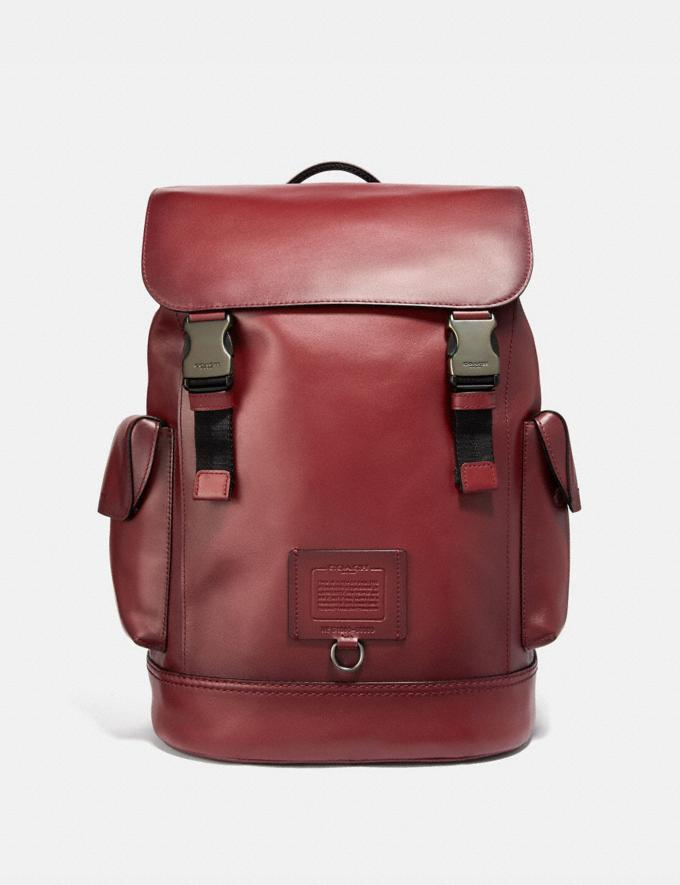 Coach Rivington Backpack Red Currant/Black Copper Finish New Men's New Arrivals View All