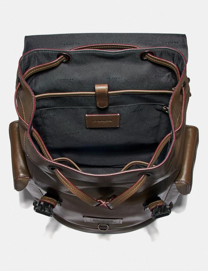 Coach Rivington Backpack Black Copper/Grey Men Bags Backpacks Alternate View 2