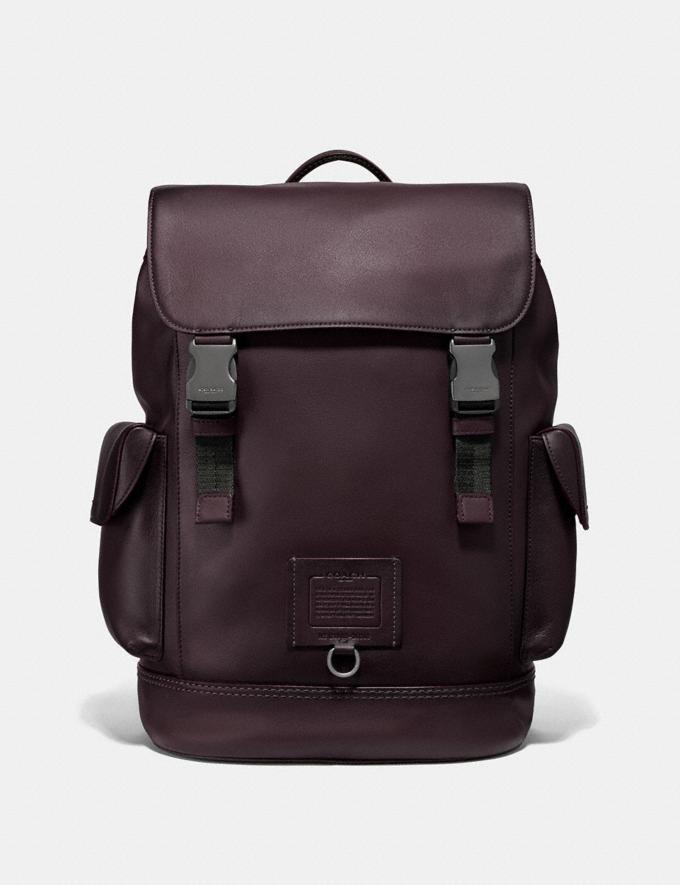 Coach Rivington Backpack Oxblood/Black Copper Men Bags Backpacks