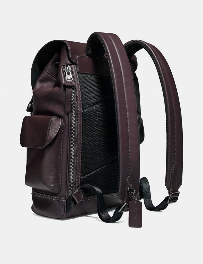 Coach Rivington Backpack Oxblood/Black Copper Men Bags Backpacks Alternate View 1