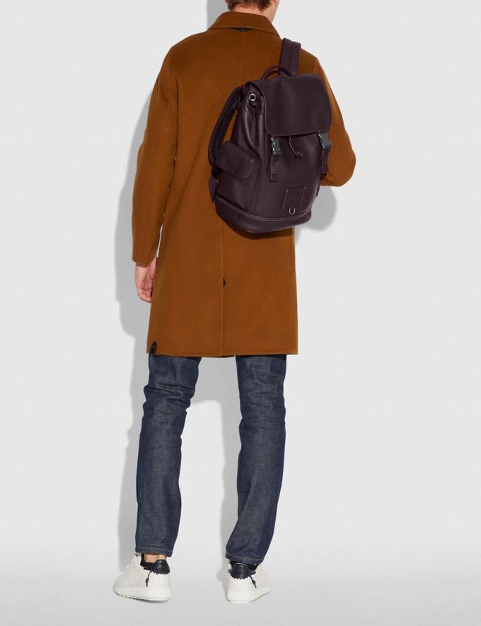 Coach Rivington Backpack Oxblood/Black Copper Men Bags Backpacks Alternate View 3