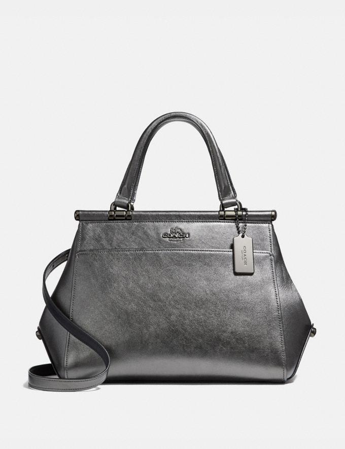 Coach Grace Bag Metallic Graphite/Dark Gunmetal New Featured Online-Only