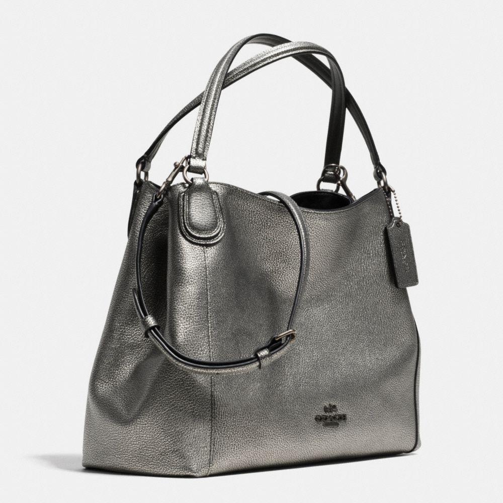 Edie Shoulder Bag 28 Metallic Pebble Leather - Alternate View A2