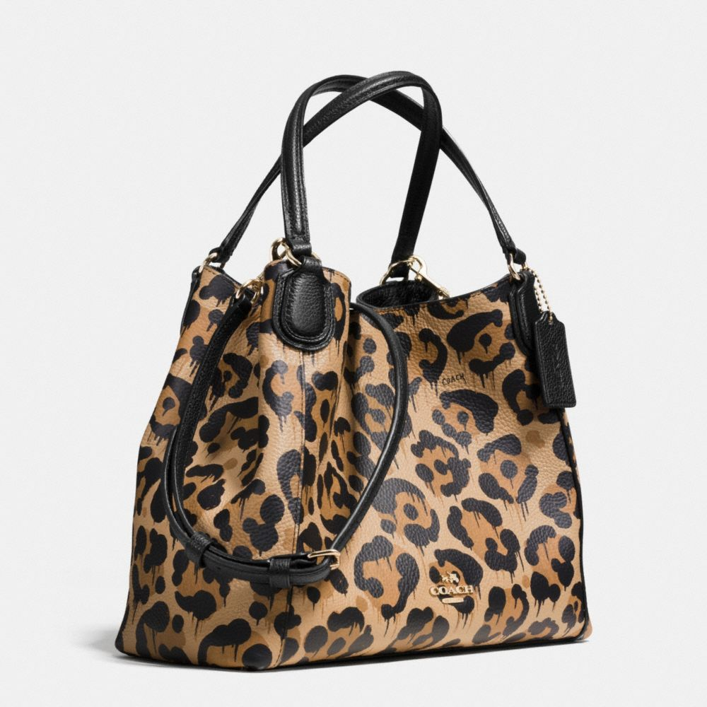 Edie Shoulder Bag 28 in Wild Beast Print Leather - Alternate View A2