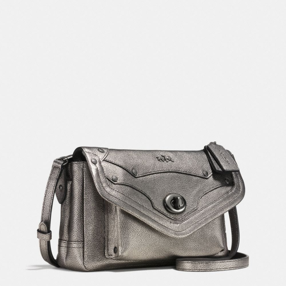 RHYDER CROSSBODY IN METALLIC PEBBLE LEATHER - Alternate View A2