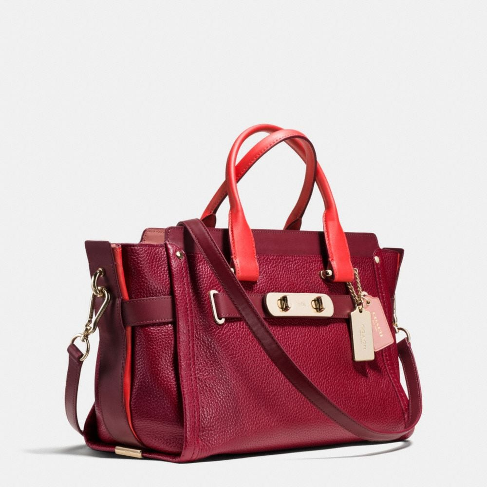 Coach Swagger in Colorblock Pebble Leather - Alternate View A2