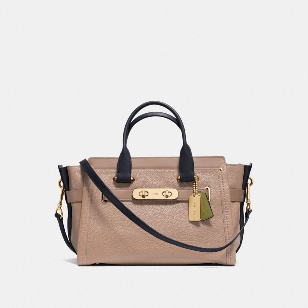 Coach Swagger in Colorblock Pebble Leather