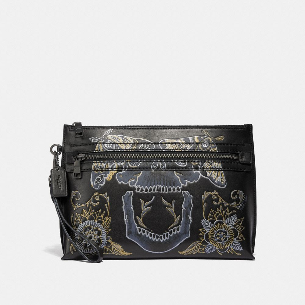 Coach Academy Pouch With Tattoo