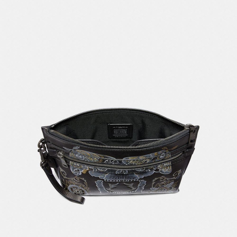 Coach Academy Pouch With Tattoo Alternate View 1