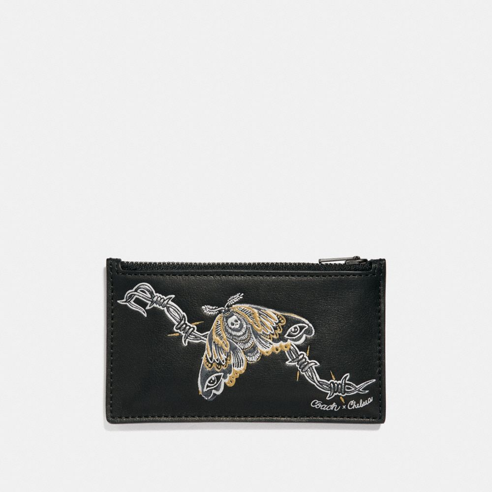 Coach Zip Card Case With Tattoo
