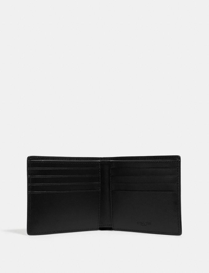 Coach Double Billfold Wallet in Signature Canvas With Tattoo Khaki Men Wallets Alternate View 1