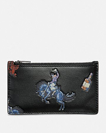 Mens card cases coach zip card case with rodeo print colourmoves