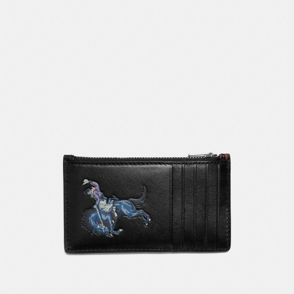 Coach Zip Card Case With Rodeo Print Alternate View 1