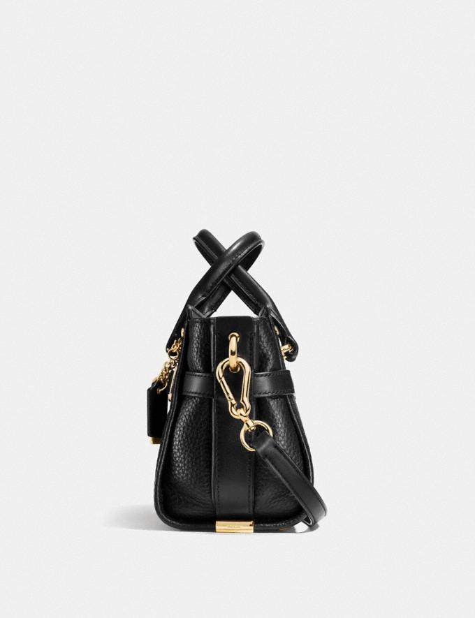 Coach Coach Swagger 20 in Pebble Leather Gold/Oxblood Women Collection Swagger Alternate View 1