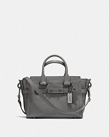 COACH SWAGGER 20 IN PEBBLE LEATHER