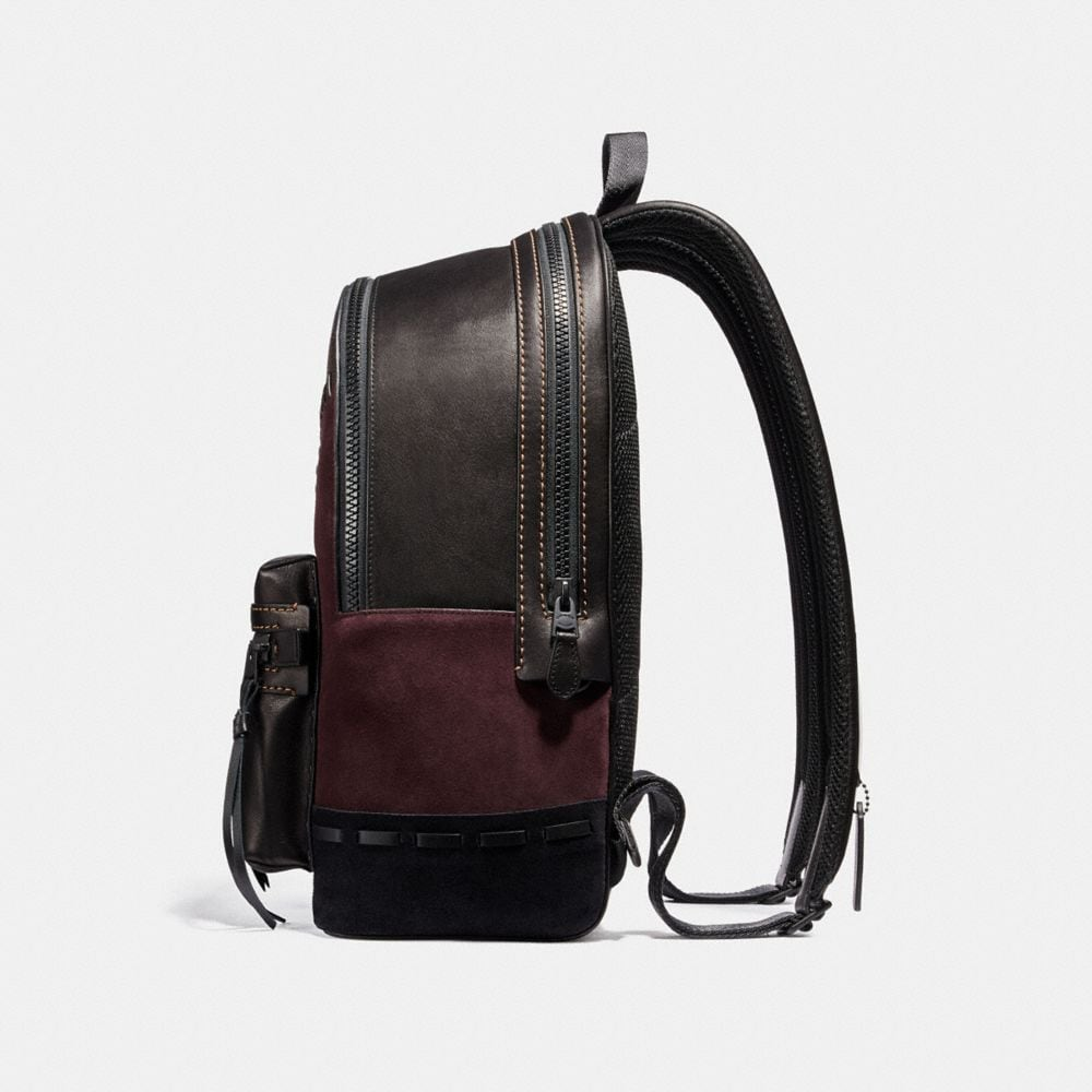 Coach Academy Backpack With Patchwork Alternate View 1
