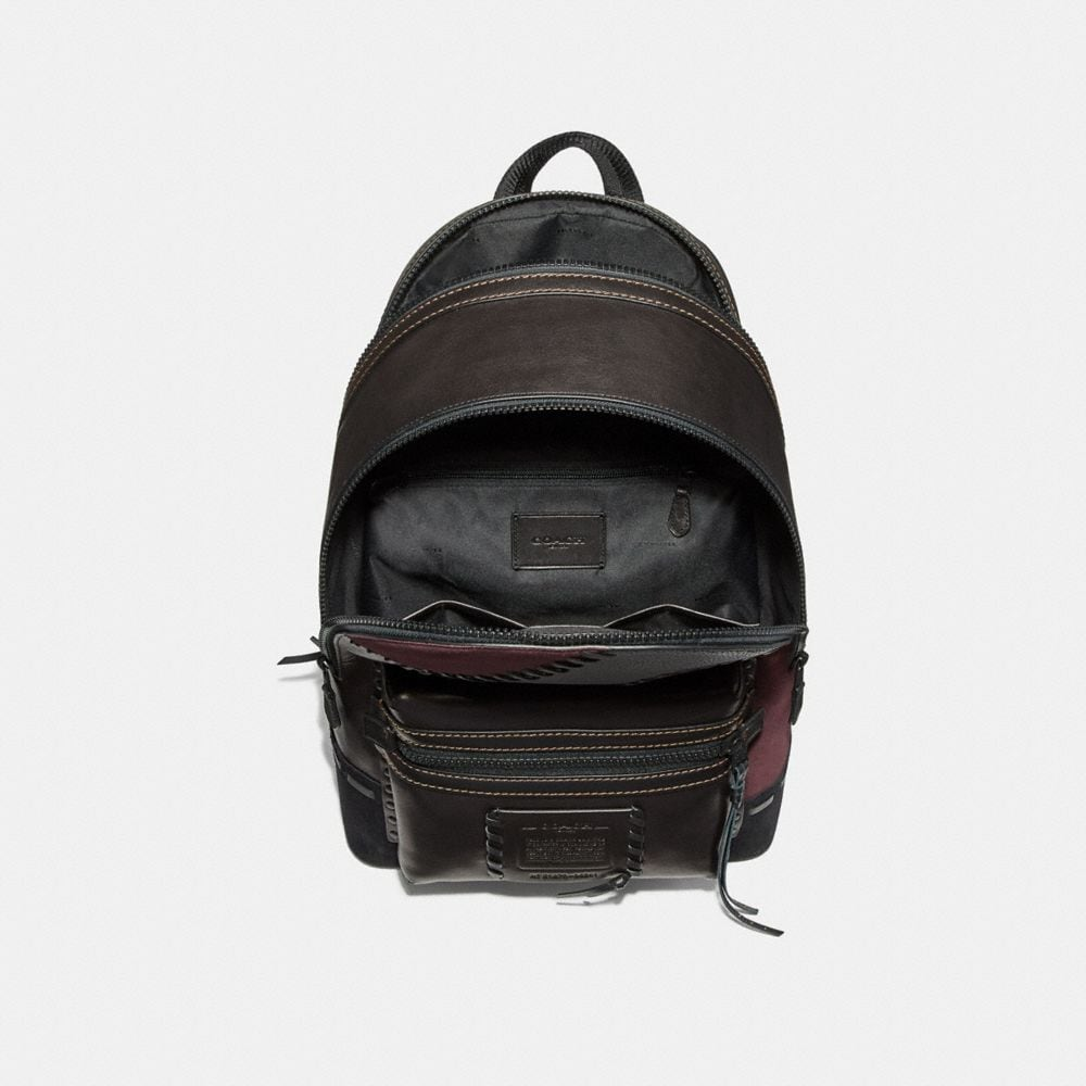 Coach Academy Backpack With Patchwork Alternate View 2