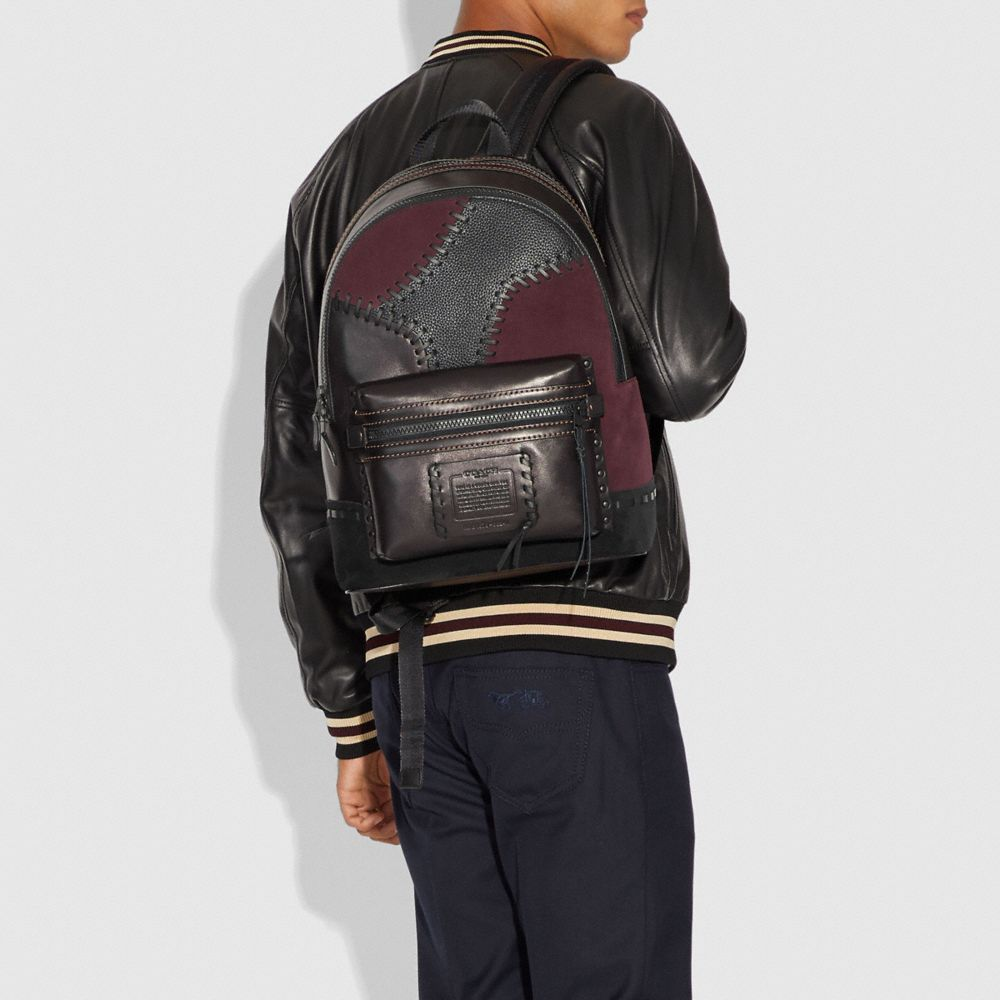 Coach Academy Backpack With Patchwork Alternate View 3