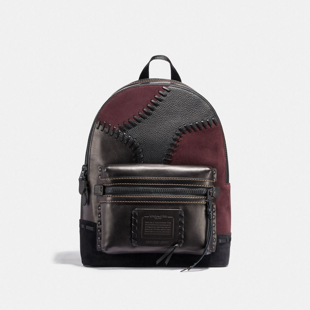 academy backpack with patchwork