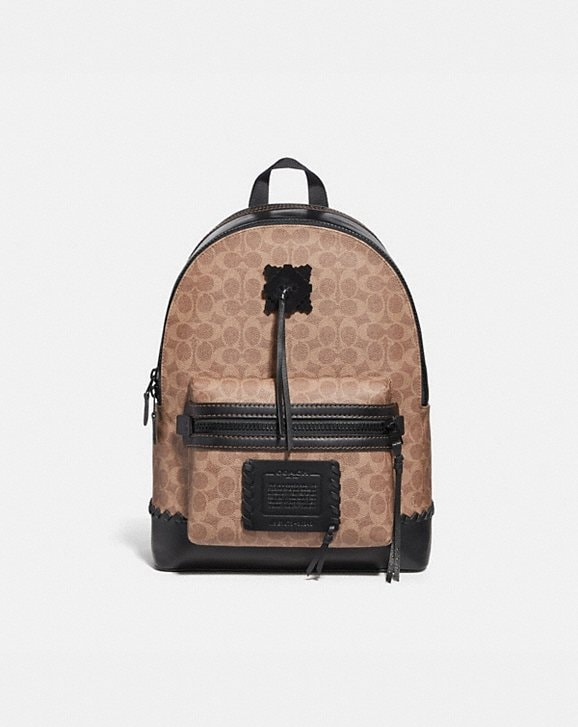 Coach ACADEMY BACKPACK IN SIGNATURE CANVAS WITH WHIPSTITCH
