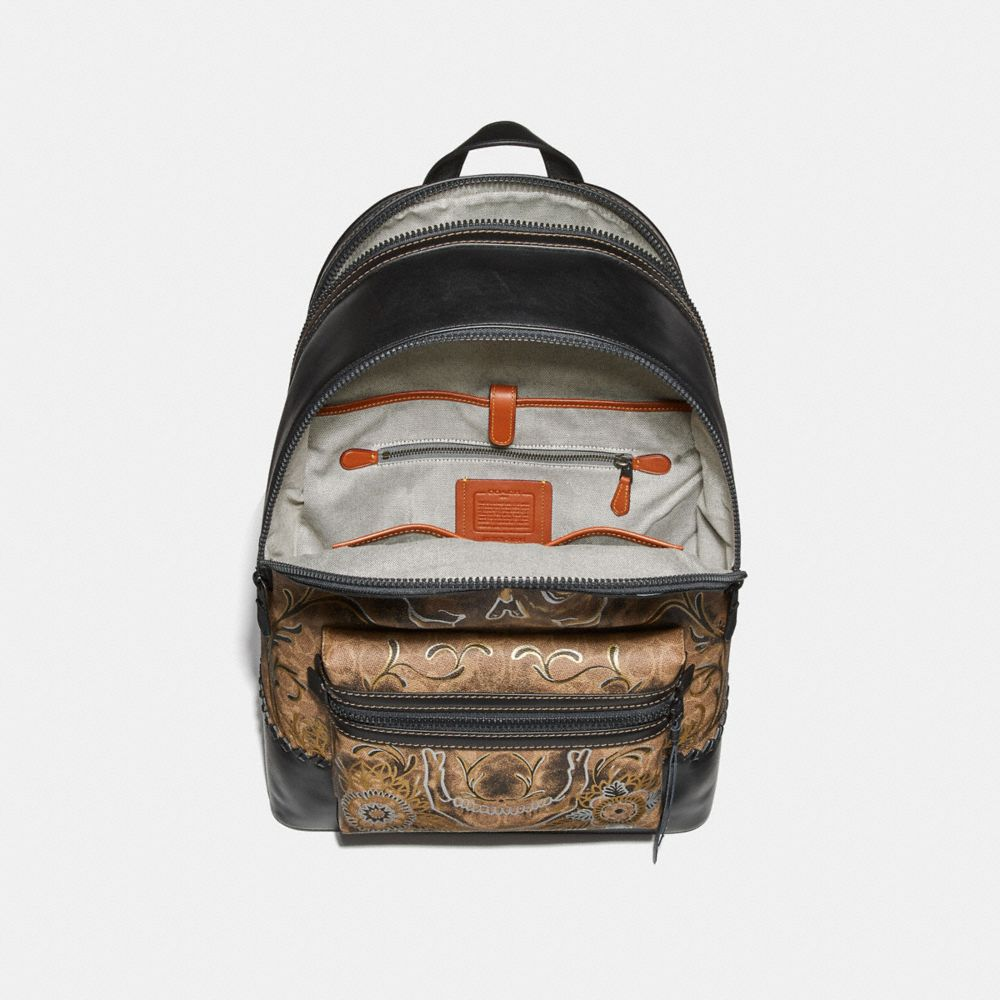 Coach League Backpack in Signature Canvas With Tattoo Alternate View 2