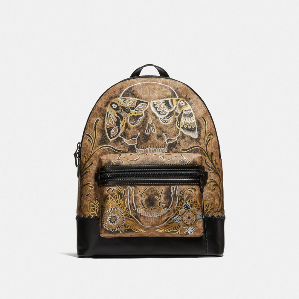Coach League Backpack in Signature Canvas With Tattoo