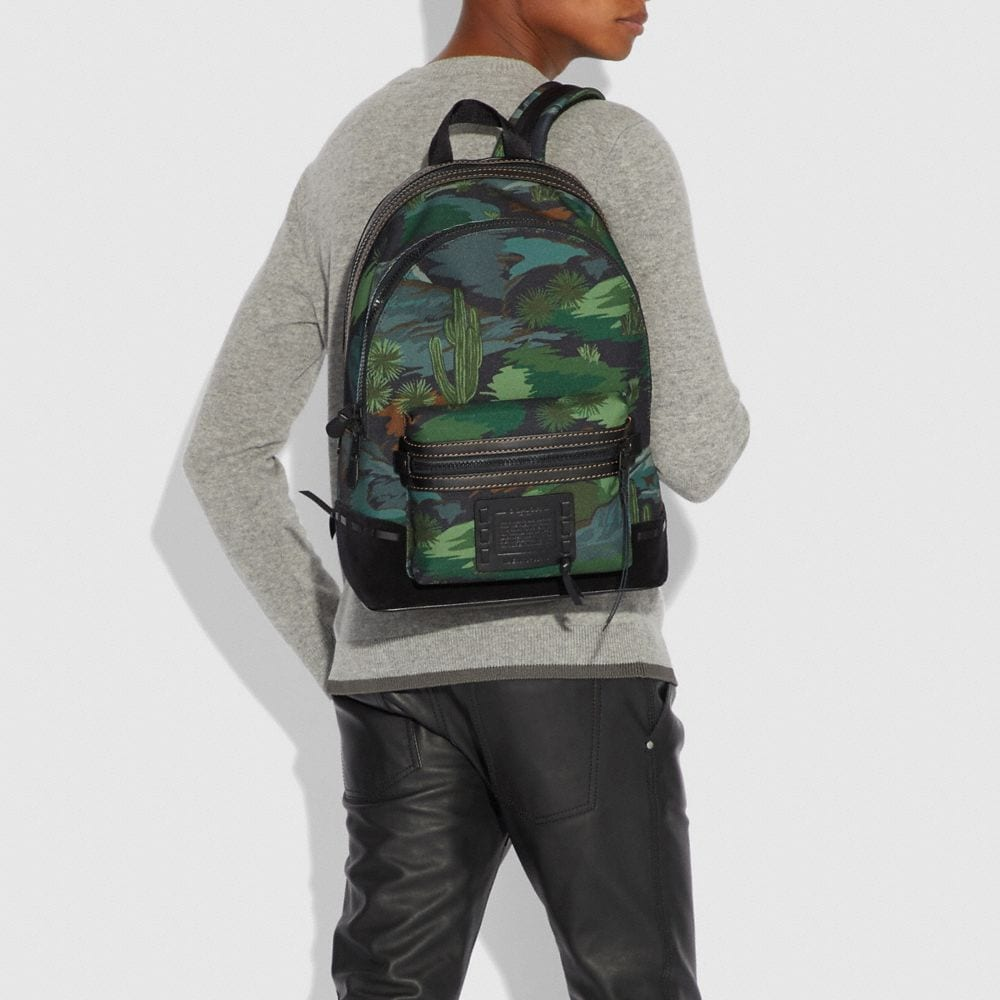 Coach Academy Backpack With Landscape Print Alternate View 3