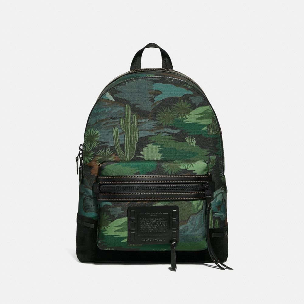 Coach Academy Backpack With Landscape Print