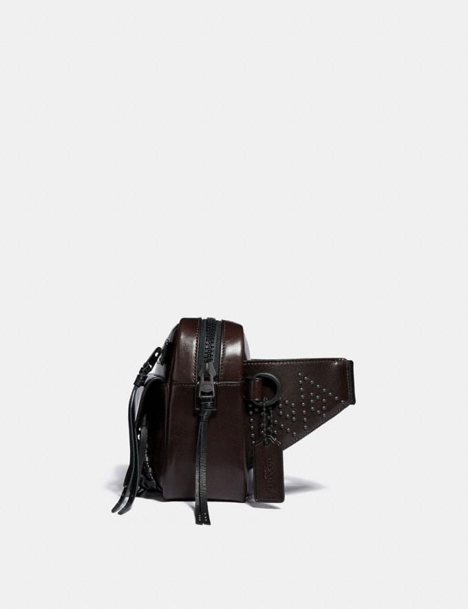 Coach Utility Belt Bag 25 With Whipstitch Mahogany/Matte Black Men Bags Messenger Bags Alternate View 1