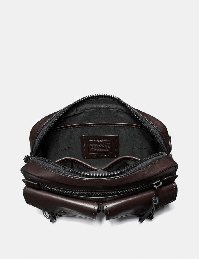 Coach Utility Belt Bag 25 With Whipstitch Mahogany/Matte Black Men Bags Messenger Bags Alternate View 2