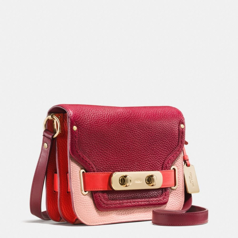 COACH SWAGGER SMALL SHOULDER BAG IN COLORBLOCK PEBBLE LEATHER - Alternate View A2