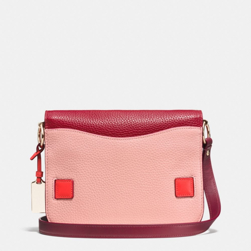 Coach Swagger Small Shoulder Bag in Colorblock Pebble Leather - Alternate View A3