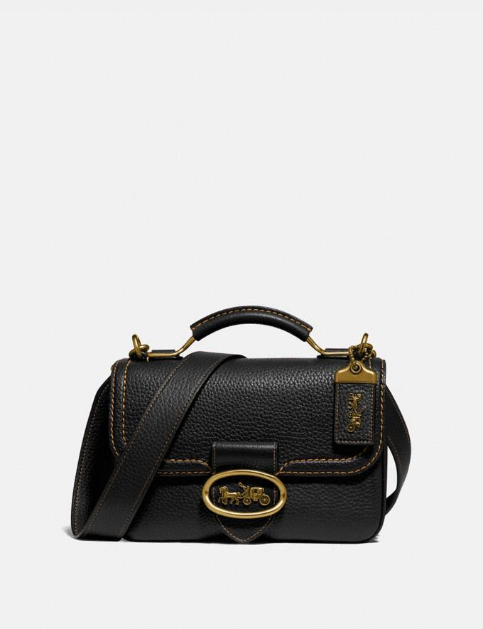 Coach Riley Top Handle 22 B4/Black Women Bags Satchels