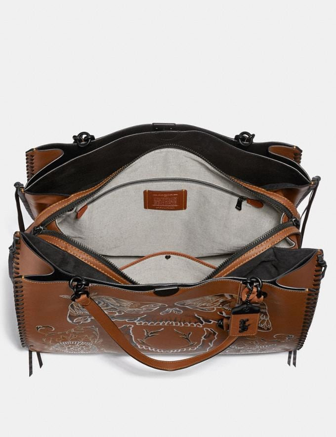 Coach Dreamer Tote 52 With Tattoo Saddle/Matte Black New Featured Online Exclusives Alternate View 2