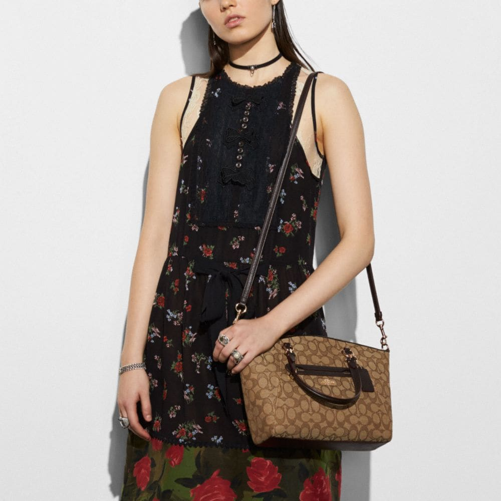 Coach Prairie Satchel in Signature Jacquard Alternate View 3