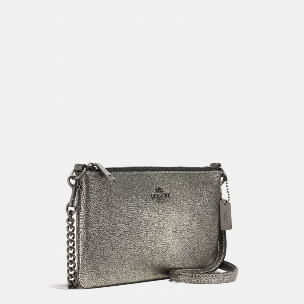 HERALD CROSSBODY IN METALLIC PEBBLE LEATHER - Alternate View A2