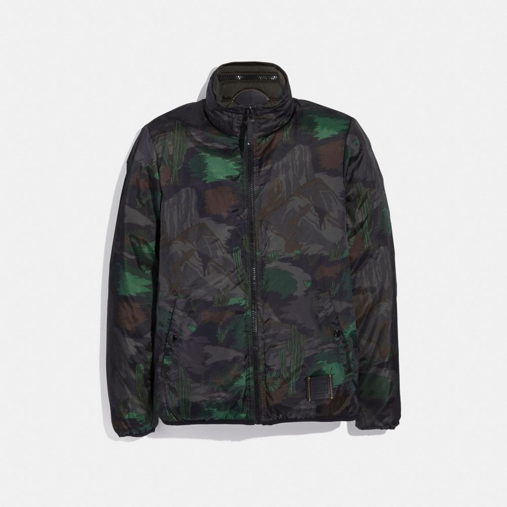 reversible landscape print jacket