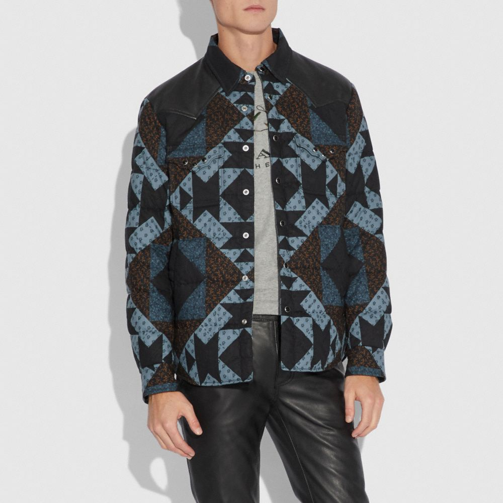 Coach Patchwork Print Shirt Alternate View 1