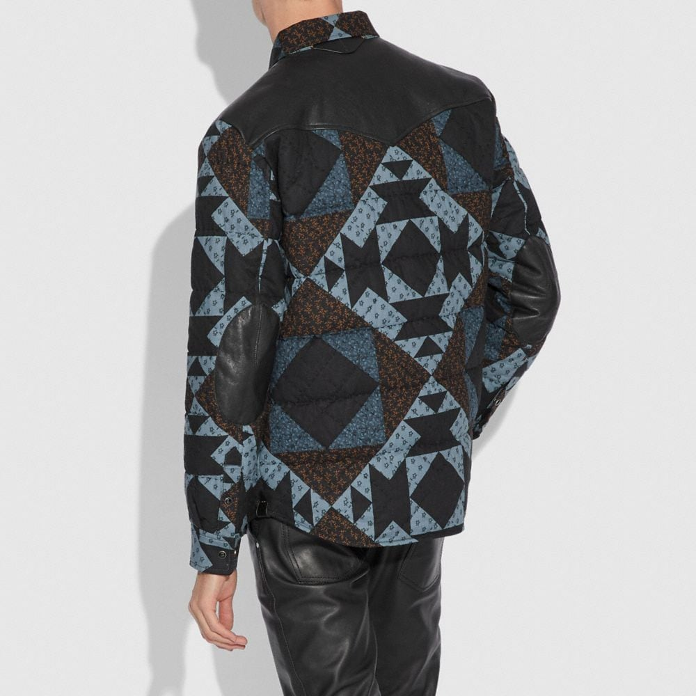 Coach Patchwork Print Shirt Alternate View 2