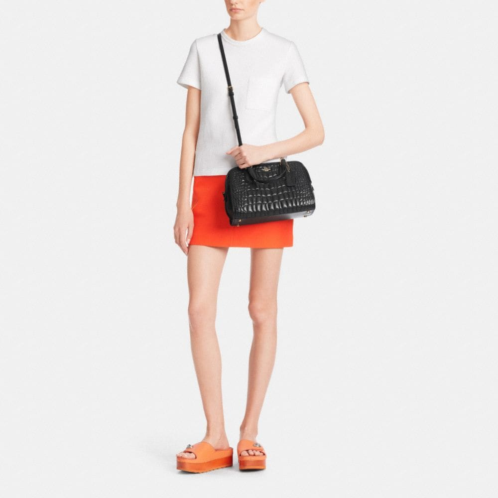 Nolita Satchel in Quilted Croc Leather  - Autres affichages M