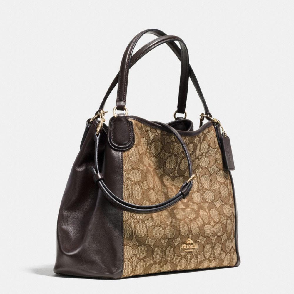 Edie Shoulder Bag 28 in Signature Jacquard - Alternate View A2