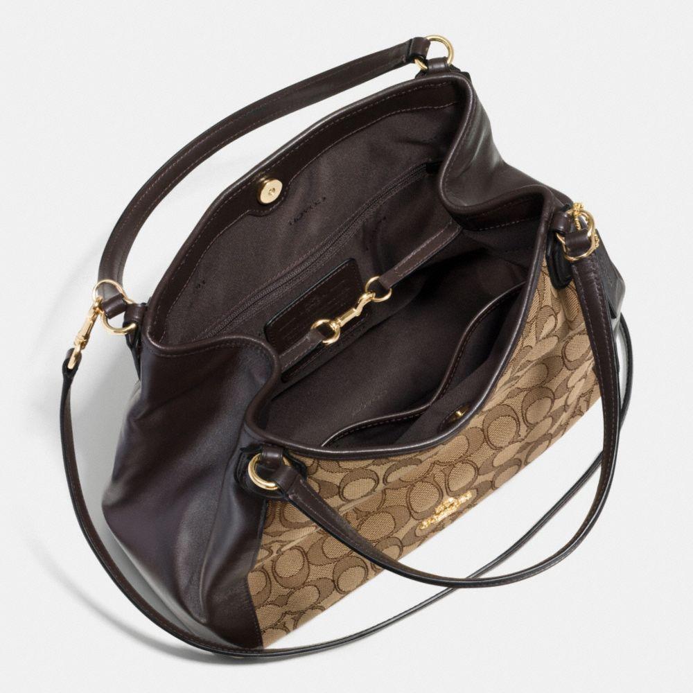 Edie Shoulder Bag 28 in Signature Jacquard - Alternate View A3